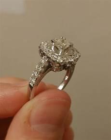 sted 585 14 karat white gold diamond halo style engagement ring price reduced i do