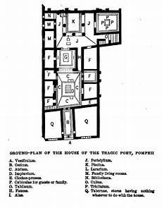 pompeii house plan file ground plan of the house of the tragic poet pompeii jpg