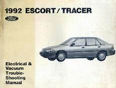 automobile air conditioning service 1992 mercury tracer security system 1992 ford escort mercury tracer electrical and vacuum troubleshooting manual