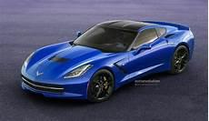 2014 corvette c7 stingray looks great in blue autoevolution
