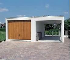 carport garage kombination carport aus beton in kombination mit einer fertiggarage in