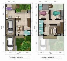 Denah Rumah Ukuran 5x5 Lantai 2