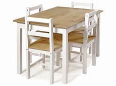 ensemble table 4 chaises de cuisine en pin massif madrid