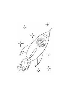 boy astronaut flying in a space rocket ausmalbild