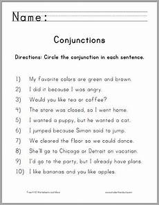 circle the conjunctions worksheet for grade one free to print pdf homework ideas
