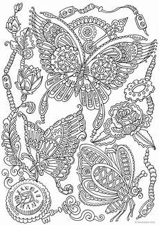 printable colouring sheets for adults steunk butterflies printable coloring page from etsy