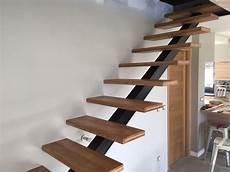 escalier en acier fabrication escalier bois acier contemporain palmarini