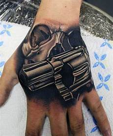 50 gun tattoos for men explosive bullet design ideas