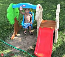 tike swing and slide slide and swing tikes diy project