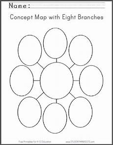 mind mapping worksheets 11580 concept map with eight branches blank worksheet free to print pdf file concept map