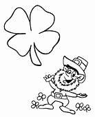 St Patricks Day Leprechaun Coloring Page  Book
