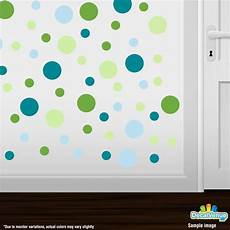 lime green baby blue turquoise baby green polka dot circles wall decals in 2019 polka