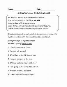 articles grammar worksheets for grade 1 25170 articles worksheets article part of speech worksheets