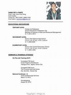 simply sle resume for hrm fresh graduates bshrm graduate resume ojt certificate sle for it