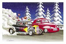 santa racing the elves christmas cards of 10 cc294 free shipping orders over 99 at