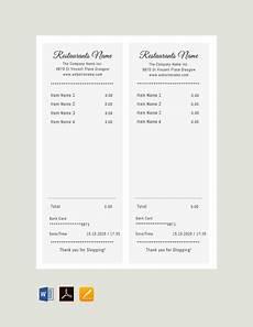 21 free receipt templates pdf word excel psd