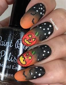 ehmkay nails halloween nail art glowing pumpkin nail art