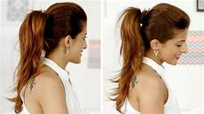 ponytail trick how to add volume to your ponytail quick and easy hairstyles youtube