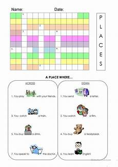 places in town writing worksheets 16040 places in town worksheet worksheet free esl printable worksheets made by teachers