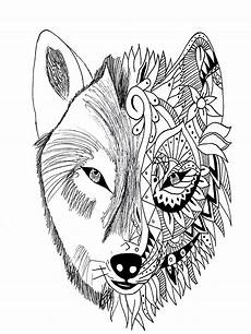 wolf krissy tattoos coloring pages