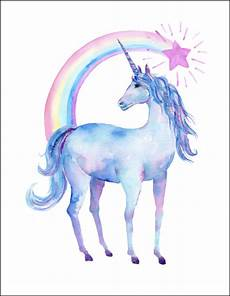 any color large unicorn wall free printable watercolor unicorn pictures unicorn