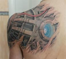 Tattoos Männer Schulter - 41 mechanical tattoos on shoulder