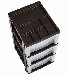 In Drawer Storage by Three Drawer Storage Cart Black In Storage Drawers