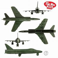 timmee plastic army men cold war jets olive