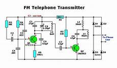 Fm Transmitter Circuit Diagram Schematic by Electronic Fm Telephone Transmitter Circuit Electronic