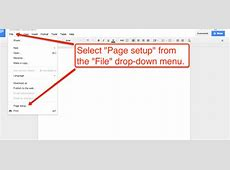 how to make paper horizontal in docs