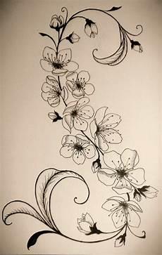 tattoovorlage blumenranken interessanter look tattoos