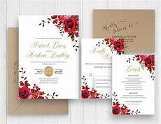 elegant red rose wedding invitations elegant burgundy