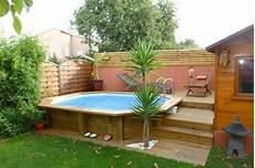 piscine semi enterrée en bois piscine bois octogonale allong 233 e semi enterr 233 e toulon var