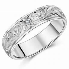 his s couple titanium wedding rings engraved cz