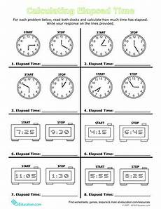 time worksheet calculator 2948 calculate elapsed time worksheet education