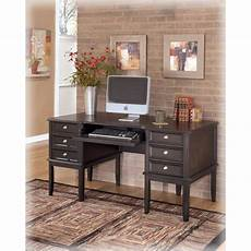 black home office furniture h371 27 ashley furniture carlyle black home office desk