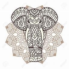 elephant mandala clipart clipground