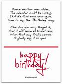Cute Birthday Poems  Messages Words