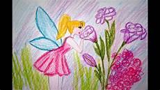 Blumen Fee Zeichnen Lernen Rosa Kleid Malen How To