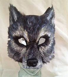 Wolf Maske Basteln - big bad gray wolf mask by femaleartcollective on etsy 54