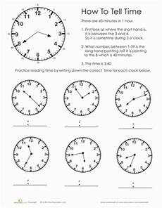 practice test telling time worksheet education com
