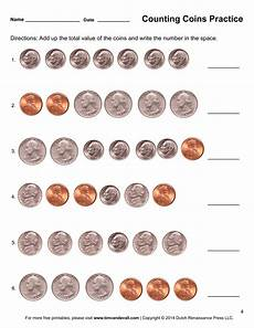 coins worksheet counting coins worksheets printable first grade math worksheets