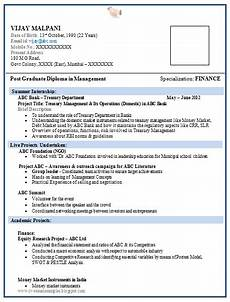 a resume format for fresher resume format for freshers
