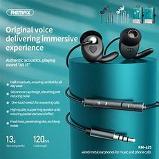 Remax Metal Stereo Earphone Wired Earbuds by Remax Rm 625 Metal Stereo In Ear Earphone 3 5mm Wired