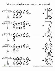 weather math worksheets counting raindrops preschool worksheets preschool