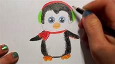 pinguin zeichnen lernen f 252 r kinder how to draw a penguin