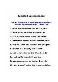 image result for worksheets jumbled sentences for grade 5 unscramble words sentences