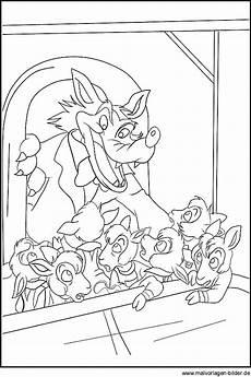 der wolf und die sieben geissleine malvorlagen