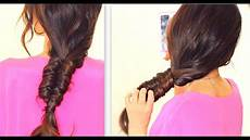 stitch quot fishtail braid tutorial cute everyday hairstyles for school medium long hair youtube