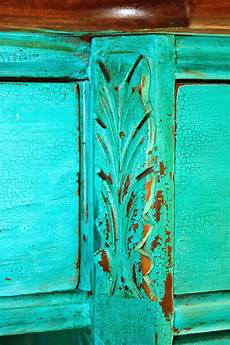 i get so many compliments this turquoise color milk paint it s from the real milk paint